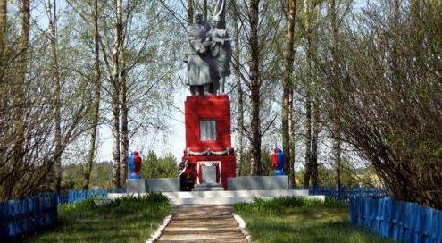 д. Озераны Дятловского р-на. Памятник, погибшим землякам.