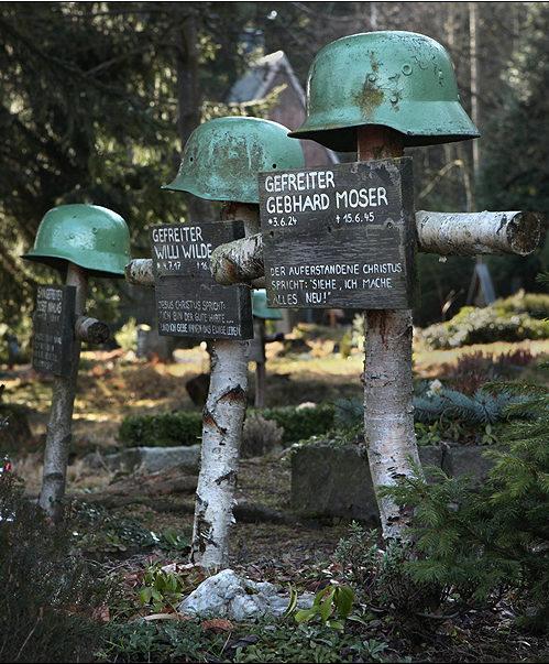 г. Баренбург. Захоронения немецких солдат на лютеранском кладбище.