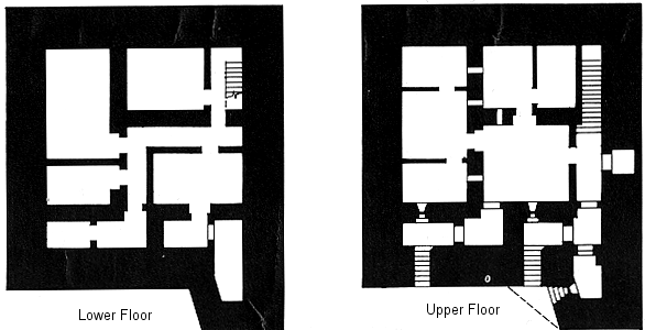 План двухэтажного бункера командира крепости.