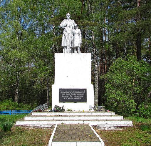 Зельвенский р-н. Памятник уничтоженной фашистами деревне Большая Воля.