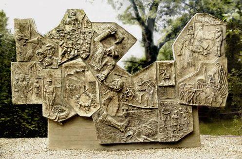 г. Кенигслуттер р-н Ризеберг. Памятник 11 членам Сопротивления.