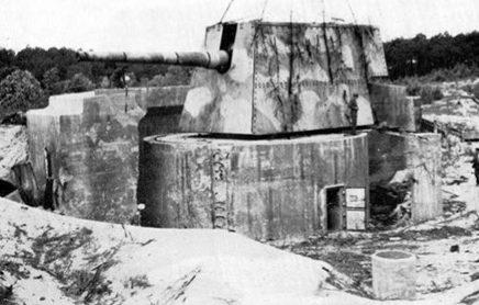 Одно из четырех 240-мм орудий береговой батареи «Mushe» с дальностью стрельбы 26 км.