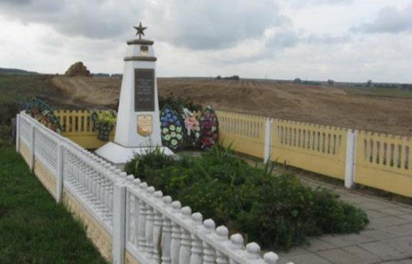 д. Сынковичи Зельвенского р-на. Памятник, установленный на братской могиле, в которой похоронено 407 советских воинов.