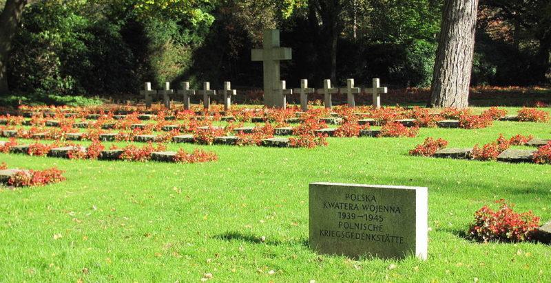 Братские могилы на польском участке военного кладбища.