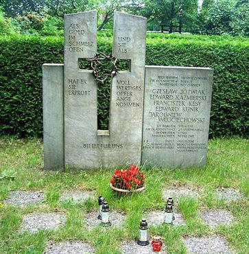 г. Дрезден. Памятник у братских могил, погибших участников польского Сопротивления.