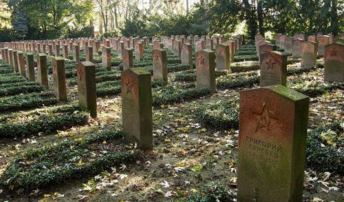 г. Лейпциг. Военное кладбище, где похоронено 1 758 советских военнопленных.