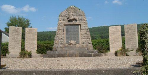 д. Хардероде. Памятник землякам, погибшим в годы обеих мировых войн.
