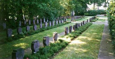 г. Эсенс. Воинское кладбище, где захоронено 128 немецких солдат, погибших в годы Второй мировой войны.