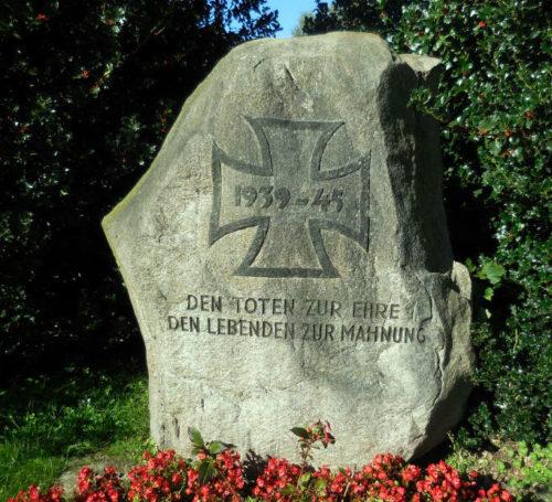 г. Эрбке. Памятник жертвам Второй мировой войны.
