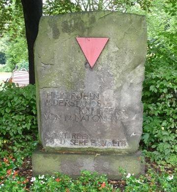г. Радеберг. Памятник, установленный на лагерном кладбище, где похоронено 422 заключенных, погибших в трудовом лагере.