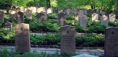 Надгробные камни на могилах.