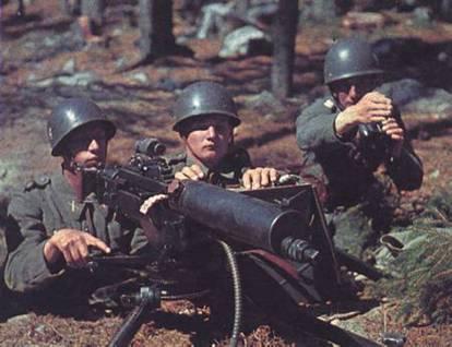 Шведские пулемётчики. 1943 г.