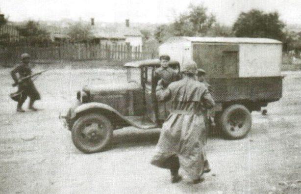 Захват немцами грузовика. 8 октября 1941 г.