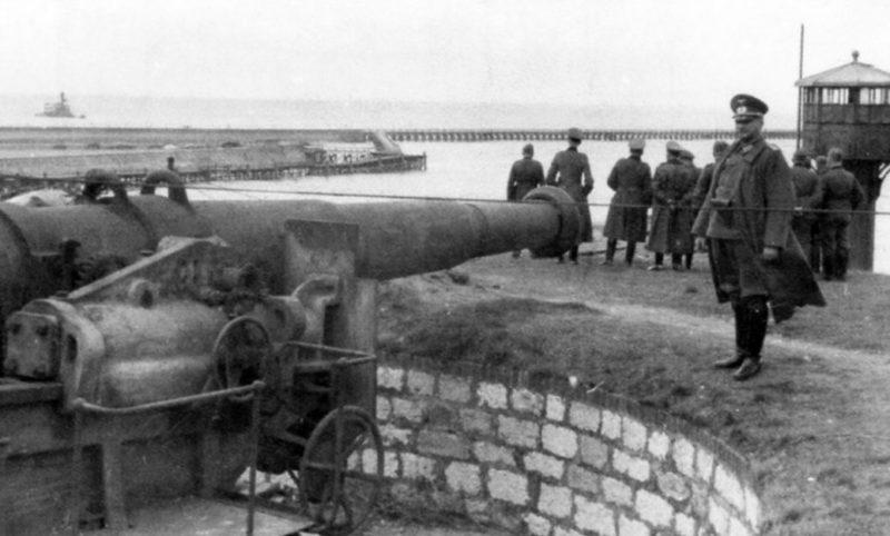 Батарея в распоряжении немцев.
