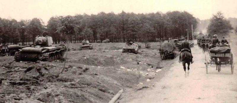 Разбитая советская техника под Винницей. Июль 1941 г.