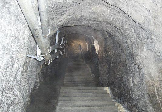 Тоннели крепости.