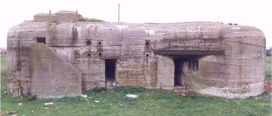 Бункер типа Regelbau 610 – командный пункт батареи.
