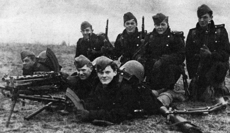 Датские солдаты в день вторжения Германии. 9 апреля 1940 г.