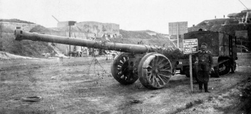 155-мм орудие для усиления батареи.