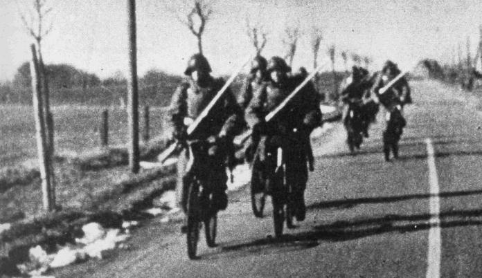 Датская велосипедная пехота. 9 апреля 1940 г.