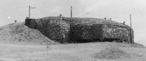 Каземат для 155-мм орудия в 1944 г.
