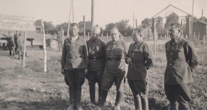 Пленные офицеры Красной Армии. Август 1941 г.
