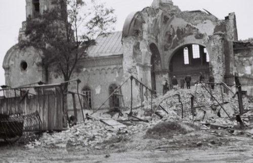 Руины Покровской церкви. Октябрь 1941 г.