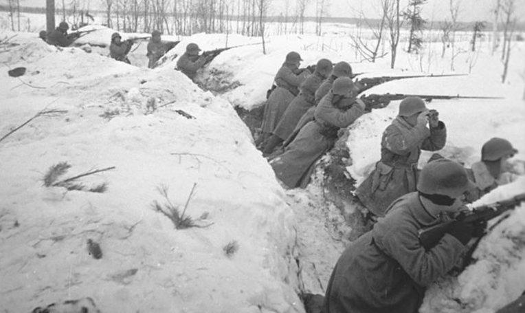 Солдаты советской 7-й армии в обороне. Ноябрь 1939 г.