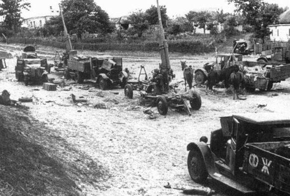 Уничтоженная советская техника. Август 1941 г.