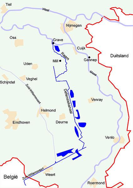 Карта-схема линии «Peel-Raamstelling».