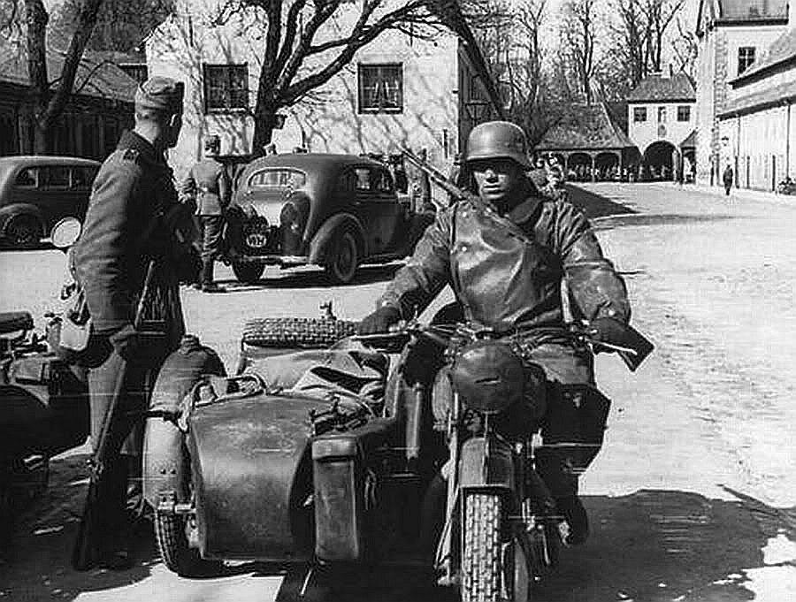 Немцы вошли в Данию. 9 апреля 1940 г.