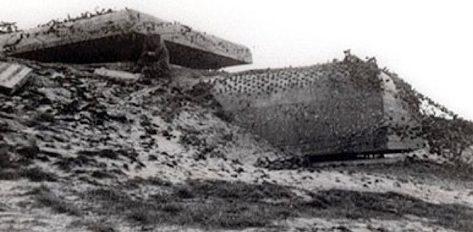 Командный бункер типа М162 в годы войны и сегодня.