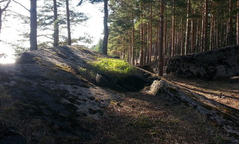 Остатки укреплений линии сегодня.