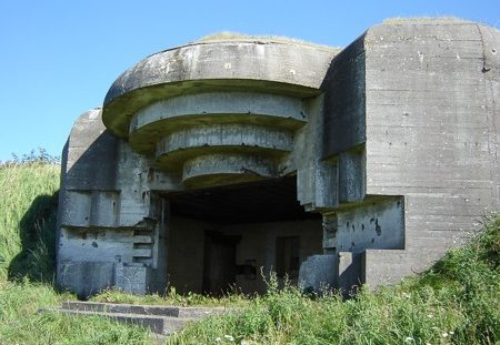 Бункер типа М270 батареи 150-мм орудий.