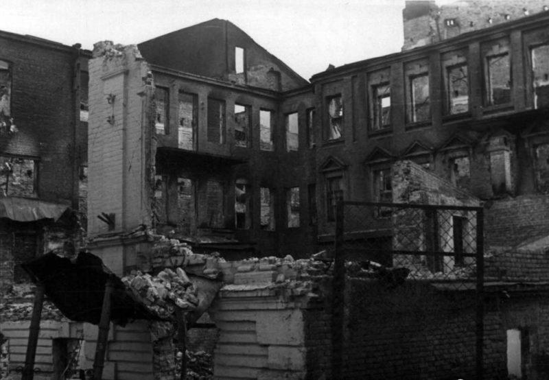 Руины Днепропетровска. 1942 г.