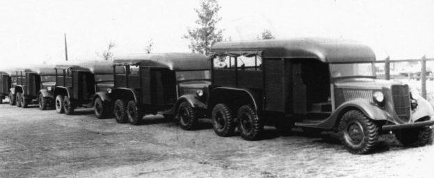 Автомобили с двухосными ведущими тележками TRADO. 1939 г.