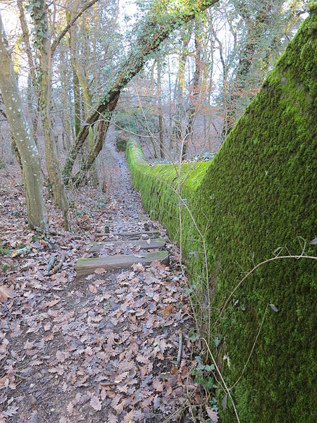 Противотанковая стена на отдельных участках линии.