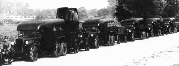 Тягачи «Форд-TRADO» с прожекторами. 1939 г.
