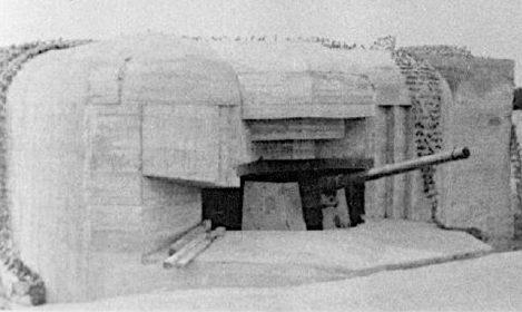 Каземат типа 671для 120-мм орудия.