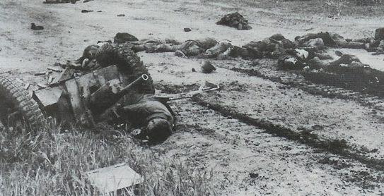 Погибшие красноармейцы. Август 1941 г.