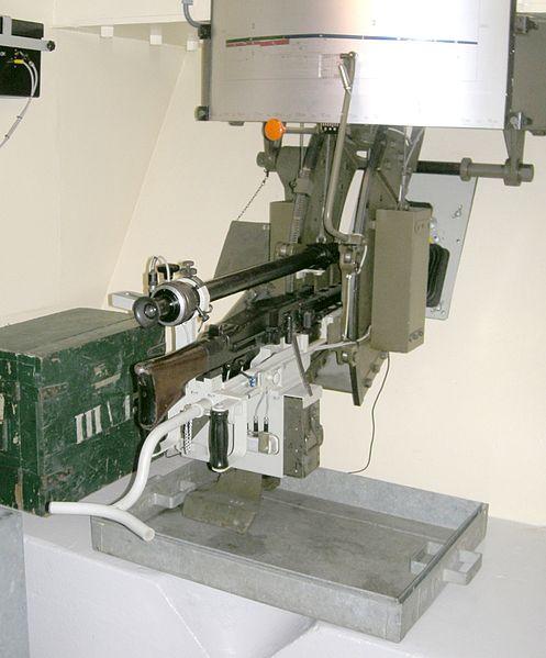 Пулеметы на крепостных станках в ДОТе «Villa Rose».