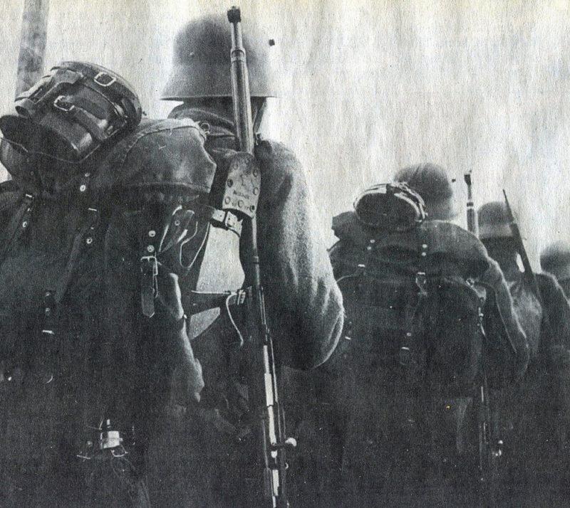 Финны уходят на фронт. Ноябрь 1939 г.