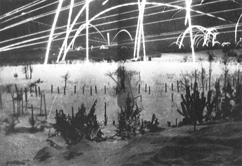 Сигнальные ракеты над советско-финляндской границей, первый месяц войны. Декабрь 1939 г.