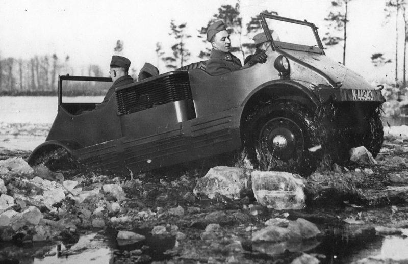 Плавающий армейский автомобиль-вездеход «ДАФ MC-139». 1939 г.