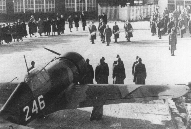 Истребители Fokker D-XXI. Октябрь 1939 г.