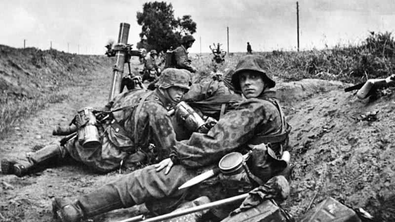 Солдаты корпуса «Дания» на Восточном фронте. 1941 г.
