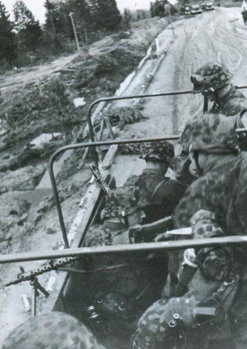Солдаты корпуса «Дания» в Демьяновском котле. Март 1942 г.