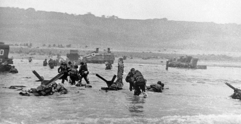 Высадка десанта на плацдарме «Омаха». Утро 6 июня 1944 г.