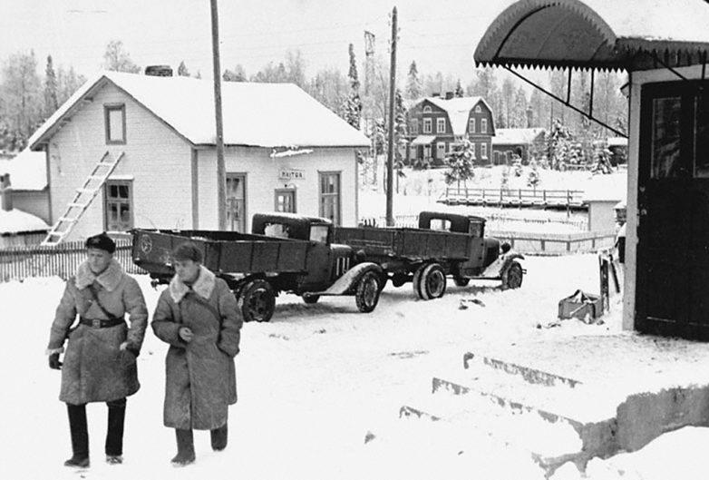 Вид станции Суоярва, взятой Красной Армией. Декабрь 1939 г.