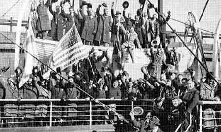 Прибытие финско-американских добровольцев в Финляндию. Декабрь 1939 г.